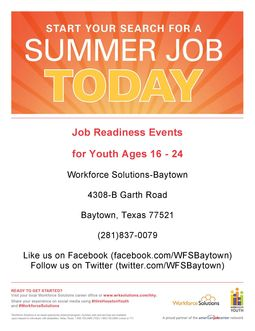 Youth Job Readiness Events
