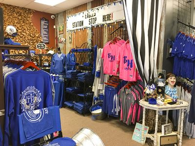 The Blue Room store merchandise